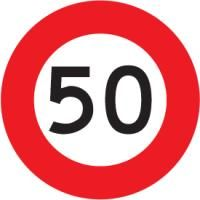 Sign Diamond Tuflite 50kph - 750x750mm