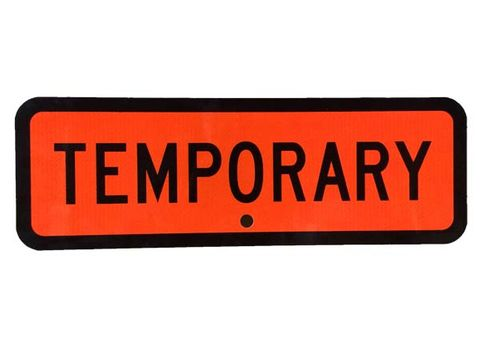 "Sign Supplement ""Temporary"" 950x300"