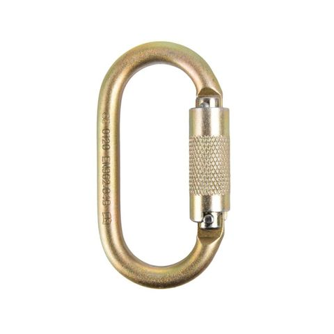 ISC Steel Oval Supersafe Carabiner - Keylock