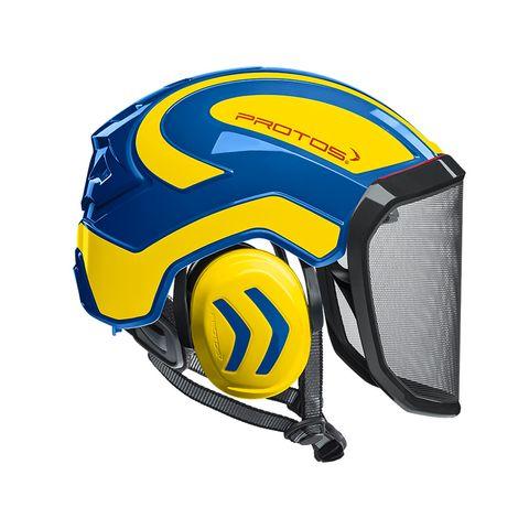 PROTOS® Integral Arborist Helmet - Blue/Yellow