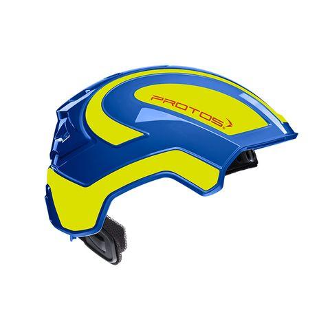 PROTOS® Integral Industry Helmet - Blue/Neon-Yellow