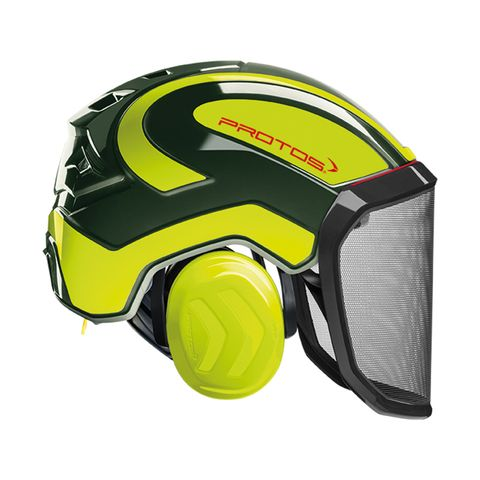 PROTOS® Integral Forestry Helmet - Olive/Neon-Yellow