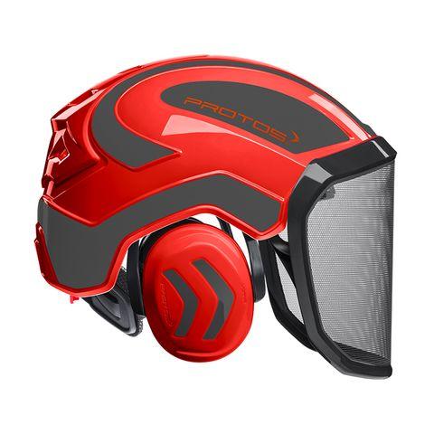 PROTOS® Integral Forestry Helmet - Red/Black