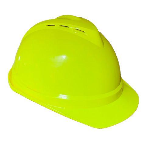 MSA Vented Helmet Fluoro Yellow
