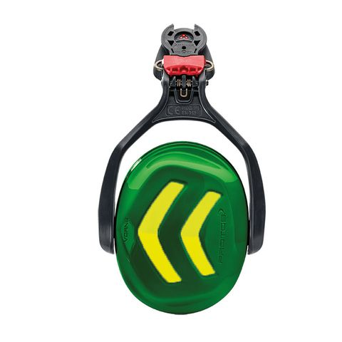 Protos Ear Protectors - Green/Yellow (single)