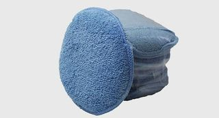 "5"" ROUND MICROFIBRE APPLICATOR PAD - 6/PACK. BLUE"