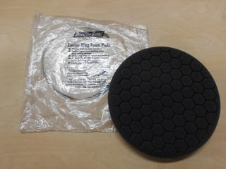BLACK HEX PATTERN FINISH PAD