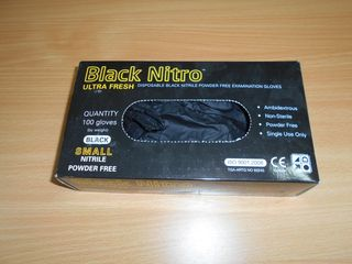 BLACK NITRO NITRILE SMALL 100