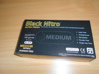 BLACK NITRO NITRILE MEDIUM 100