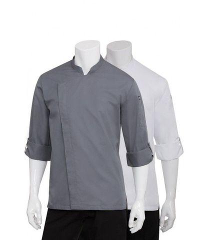 Lansing Mens Grey Cool Vent Chef Jacket