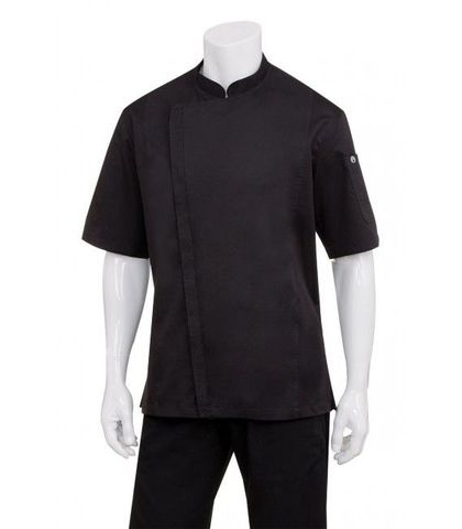 Cannes Black Press Stud Chef Jacket