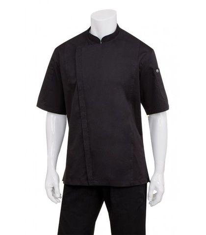 Springfield Mens White Zipper Chef Jacket