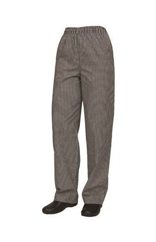 Drawstring Chef Pants Traditional Check Poly/Cotton