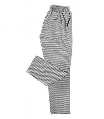 Chef Pants - Black & White Grid