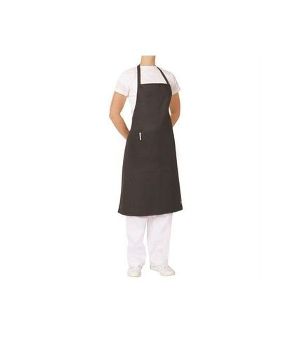 ProChef Bib Apron Black Poly/Cotton 70x86cm W/Pocket