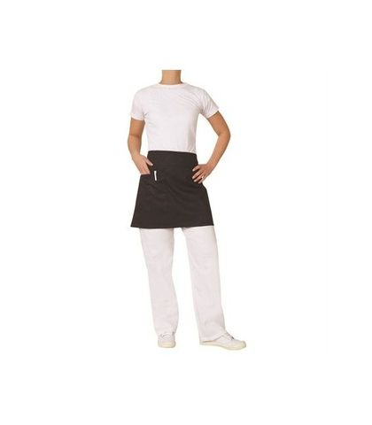 ProChef 1/2 Waist Apron Black Poly/Cotton 70x40cm W/Pocket
