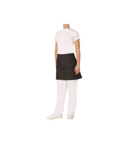 ProChef 1/2 Waist Apron Black Poly/Cotton 70x40cm
