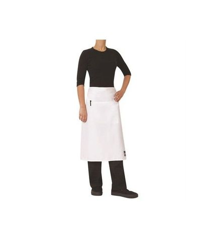 ProChef 3/4 Waist Apron White Poly/Cotton 86x70cm W/Pocket