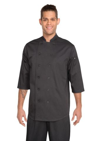 3/4 Sleeve Chef Shirt - Black