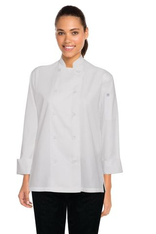 Sofia Womens Chef Coat White