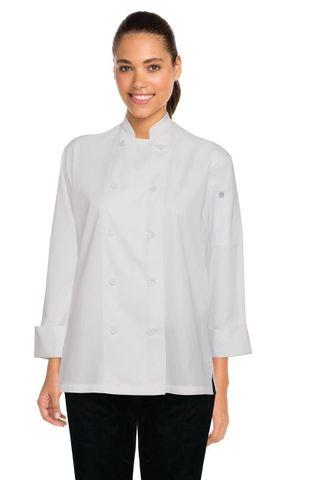Sofia Womens Chef Coat White