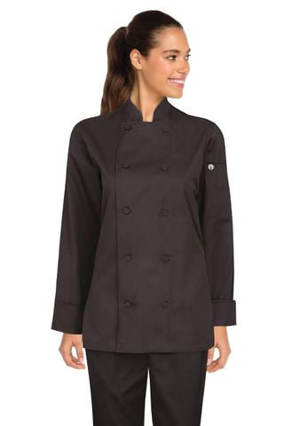 Sofia Womens Chef Coat Black