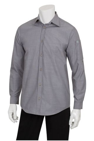 Mens Chambray Grey Shirt