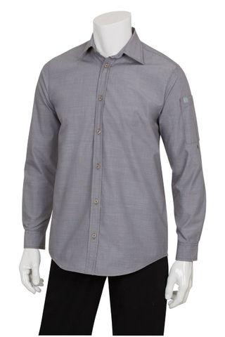 Mens Chambray Grey Shirt