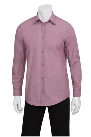 Mens Chambray Dusty Rose Shirt