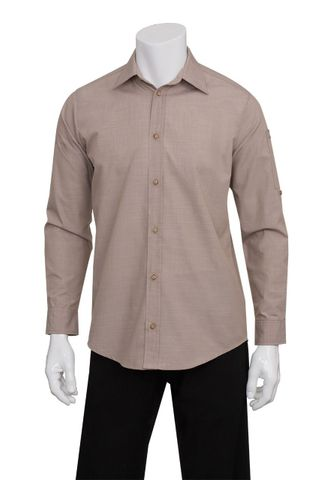 Mens Chambray Ecru Shirt