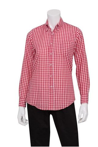 Womens Red Gingham Dress Shirt S