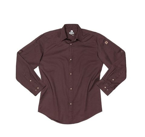 Fremont Denim Long Sleeve Shirt - Brown M