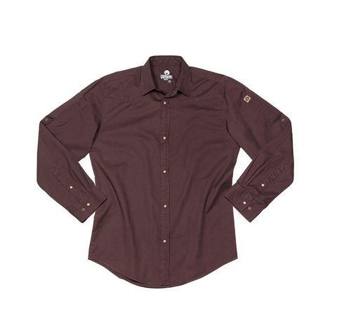 Fremont Denim Long Sleeve Shirt - Brown M