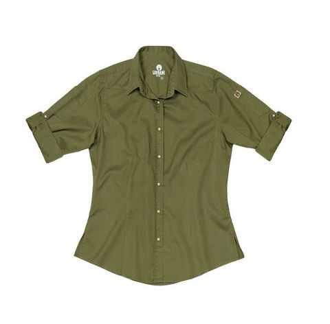 Womens Fremont Denim Long Sleeve Shirt - Clover S