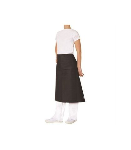 ProChef 3/4 Waist Apron Black Poly/Cotton 86x70cm