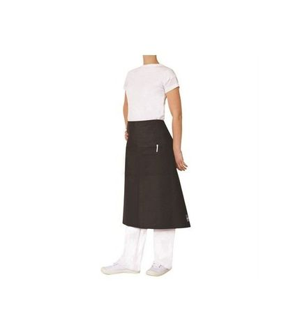 ProChef 3/4 Waist Apron Black Poly/Cotton 86x70cm W/Pocket