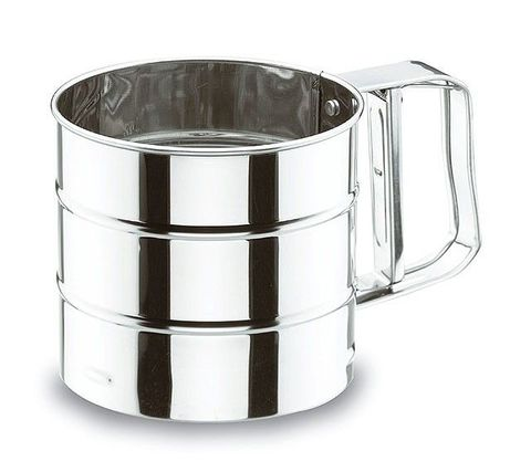 S/S Flour Sieve with Squeeze Handle 105mm