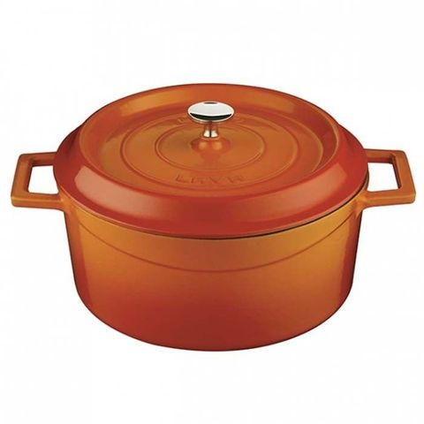 Round Casserole 4.5lt/24cm ? Orange Lava Trendy