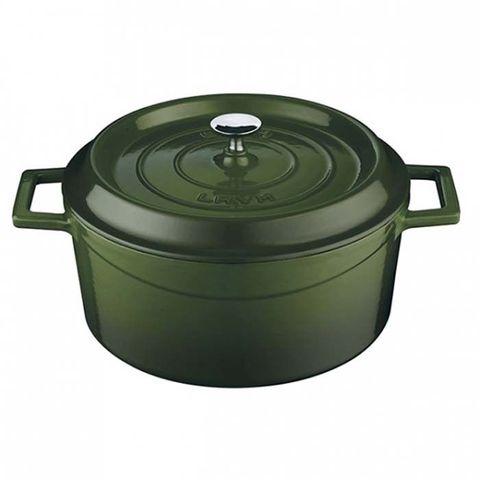 Round Casserole 4.5lt/24cm ? Green Lava Trendy