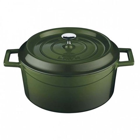 Round Casserole 6.7lt/28cm ? Green Lava Trendy