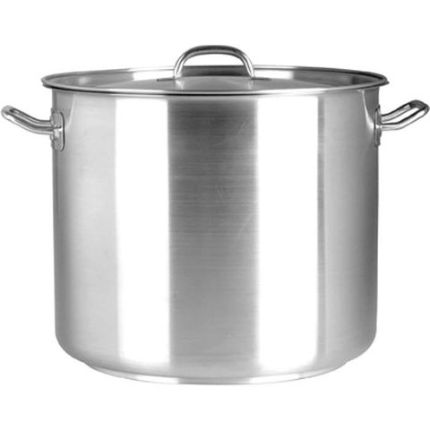 Elite 8.25lt Stockpot with Lid 18/10 - 220x220mm