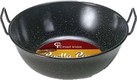 Paella Pan - Enamelled Steel Deep 320mm