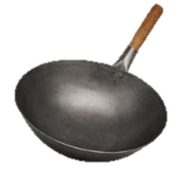 15'' Iron Wok with wood handle 380mm (thickness 1.8mm)