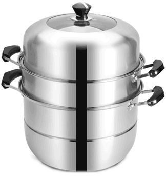 34cm Stainless Steel Steamer (3 layers)
