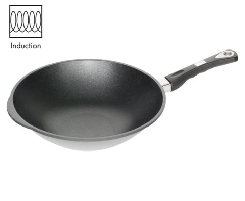 AMT Induction Wok 32cm, H:11cm (Detachable Handle)