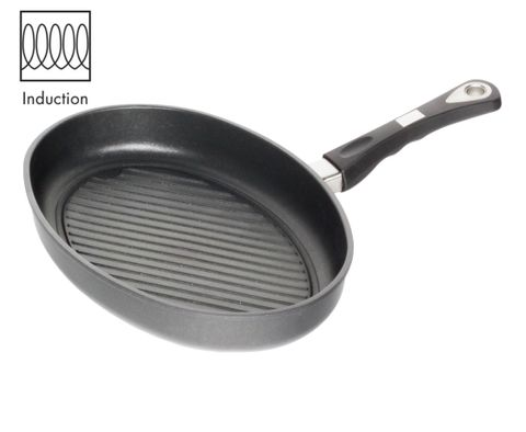 AMT Induction Fish Pan 35x24cm with Grill Surface, H:5cm (Detachable Handle)