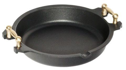 AMT Paella Pan 32cm, H:7cm (Brass Side Handles)