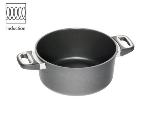 AMT Induction Casserole 24cm, H:10cm (Standard Side Handles)