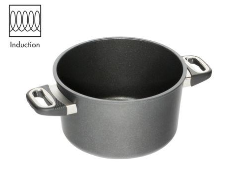 AMT Induction Pot 24cm, H: 14cm (Standard Side Handles)