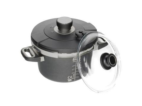Induction Pressure Cooker Set 4.5 Liters (Pot 22cm, Lid 022SK + Glass Lid 22cm)